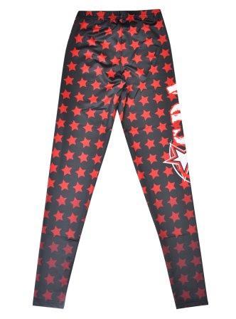 custom dancewear leggings stars sublimated design back