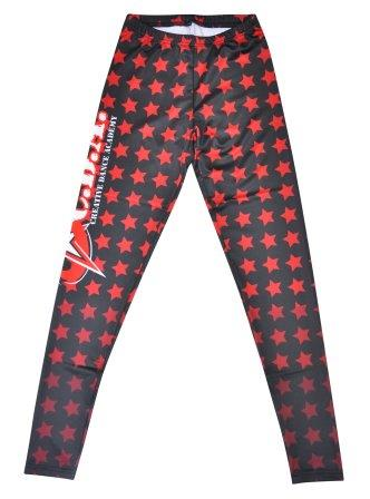 custom dancewear leggings stars sublimated design front