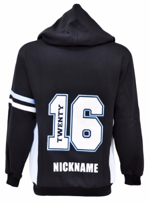 hunter river high school hooded jumper back