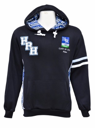 hunter river high school hooded jumper bluedots front