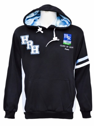 hunter river high school hooded jumper front
