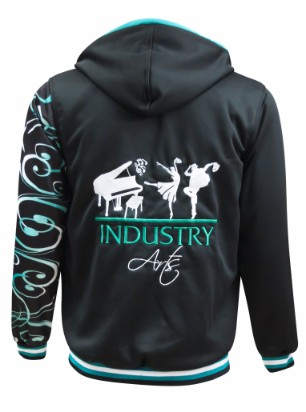 industry performing arts hoodie back