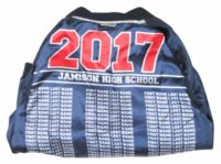 Jamison high school baseball jacket red boarder lining names
