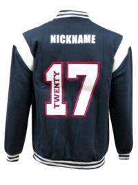 Jamison high school baseball jacket white boarder back