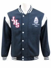 Jamison high school baseball jacket white boarder front