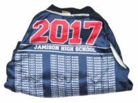 Jamison high school baseball jacket white boarder lining names