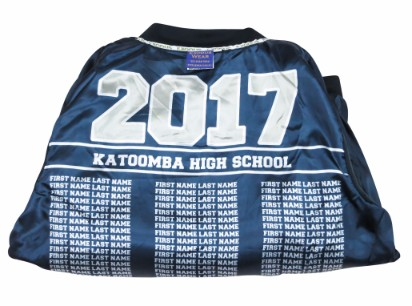 Katoomba high school baseball jacket lining names