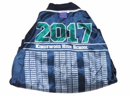 kingswood high school baseball jacket lining names