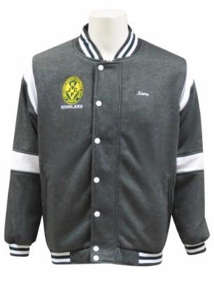lakers football netball club baseball jacket front