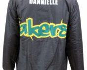 lakers football netball club bomber jacket back