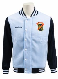 liverpool girls high school baseball jacket front