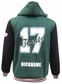 lurnea high school hooded jacket back