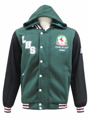 lurnea high school hooded jacket front