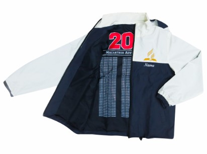 macarthur adventist college windbreaker inside