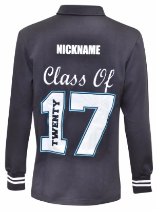 mitchell high school long sleeve jersey back