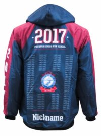 pinjarra senior high school windbreaker back