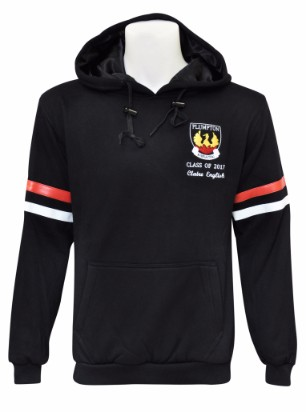 plumpton high school hooded jumper front