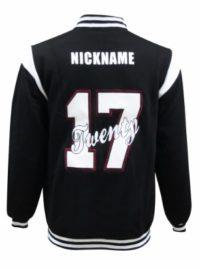 st bishoy coptic college baseball jacket back