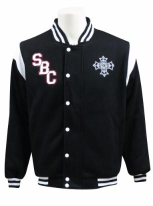 st bishoy coptic college baseball jacket front