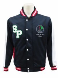 st peters catholic college baseball jacket front