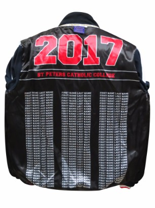 st peters catholic college baseball jacket lining names