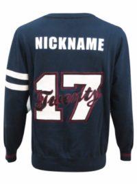 varsity sweater back