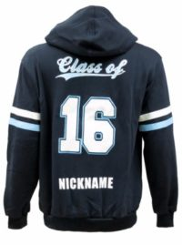 wauchope high school hooded jamper back