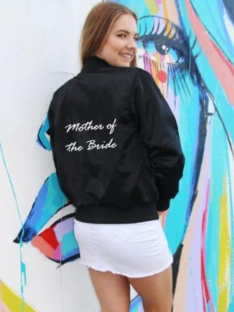 Mother of the bride custom wedding bomber jacket