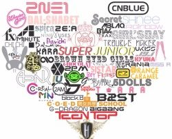 K-pop love logo