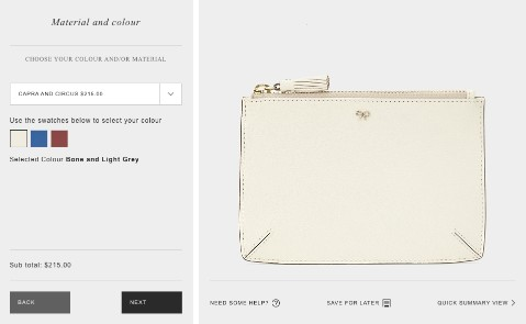 anya hindmarch white pouch customize leather