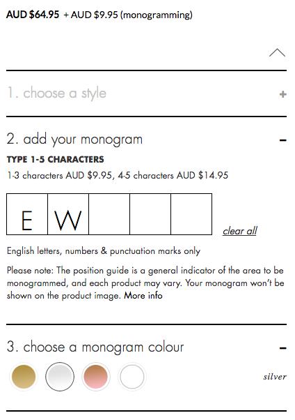 kikki.k monogram page