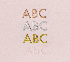 kikki.k monogram options lettering