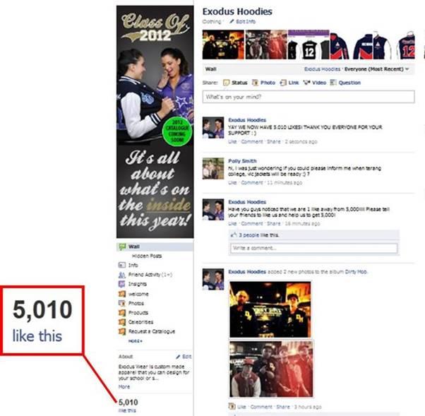 5,000 'Likes' on Facebook
