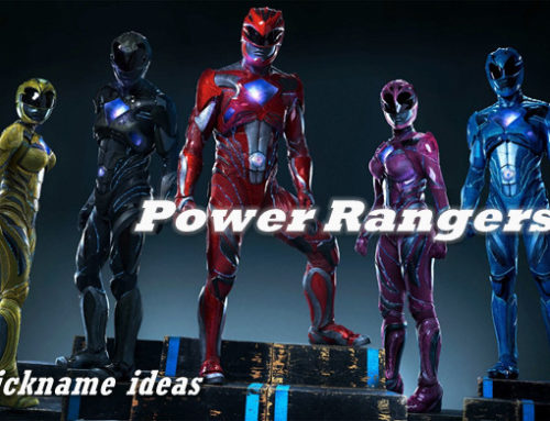 Power Rangers nickname ideas for the power-hungry fan