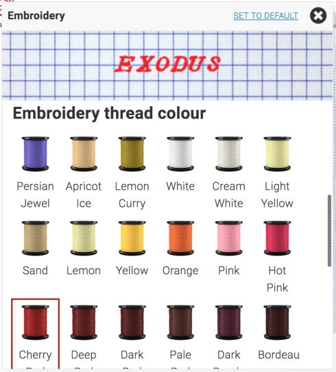 exodus wear embroider tailor store