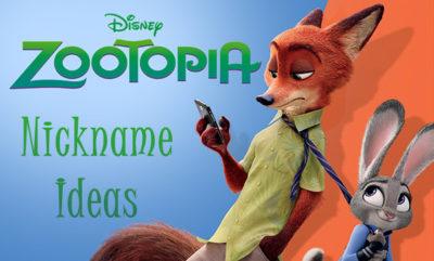 zootopia nickname ideas